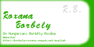 roxana borbely business card